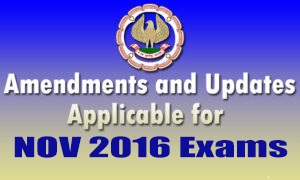ICAI Nov 2016 Amendments