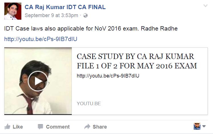 icai idt case study