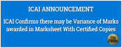 ICAI Variance of Marks awarded in Marksheet With Certified Copies