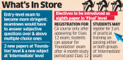 ICAI may introduce new subjects