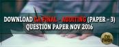 CA final Auditing question paper Nov 2016