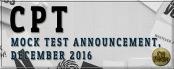 CPT Mock Test for December, 2016 Exam