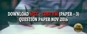 Download IPCC Cost FM Question Paper Nov 2016