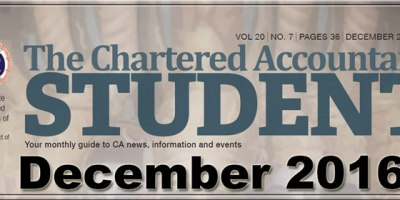 ICAI Student's Journal December 2016 - PDF