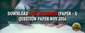 IPCC Accounts Question Paper Nov 2016