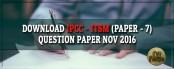 Download IPCC ITSM Question paper Nov 2016