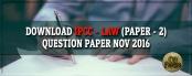 Download IPCC Law Question Paper Nov 2016