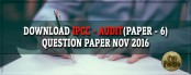 Download IPCC Audit Question Paper Nov 2016