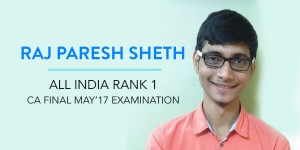 Raj Paresh Sheth CA Final Topper Interview