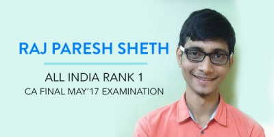 Raj Paresh Sheth CA Final Topper Interview