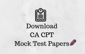 CPT Mock test papers Dec 2017 Exam