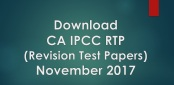 IPCC RTP for Nov 2017 Exam