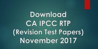 IPCC RTP for Nov 2017 Exam