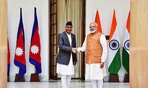 Prime Minister of India, Narendra Modi and Prime Minister of Nepal Sher Bahadur Deuba